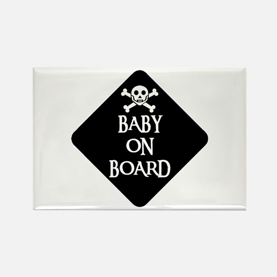 WARNING: BABY ON BOARD Rectangle Magnet
