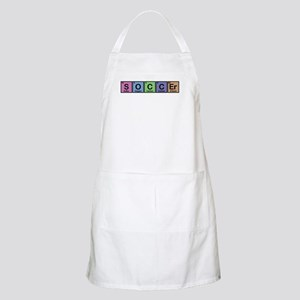 Soccer made of Elements colors Apron