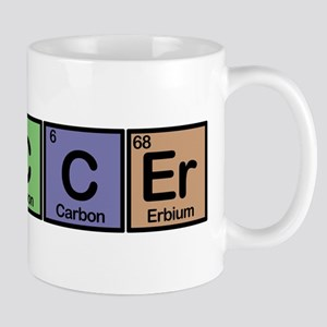 Soccer made of Elements colors Mug