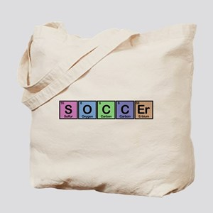 Soccer made of Elements colors Tote Bag