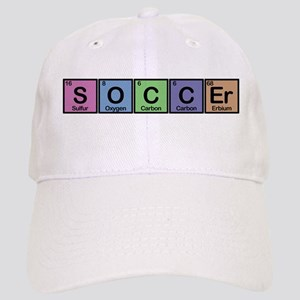 Soccer made of Elements colors Cap