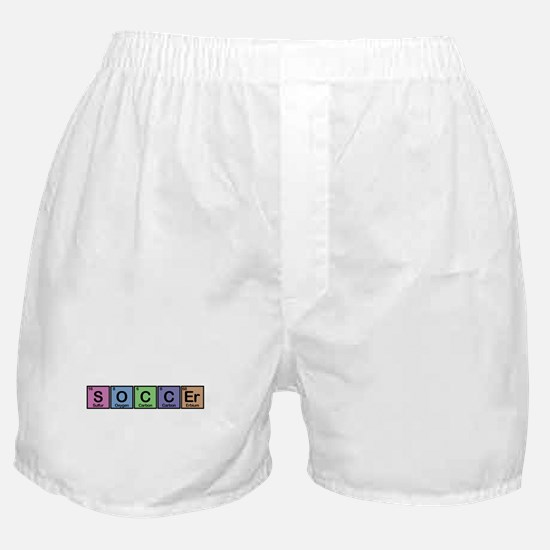 Soccer made of Elements colors Boxer Shorts