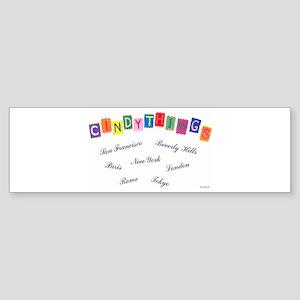 Cindythings Int'l. Bumper Sticker