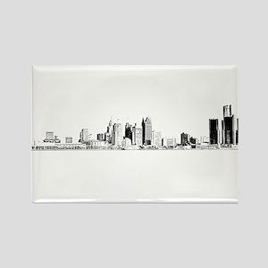Detroit Skyline Rectangle Magnet