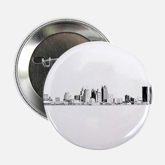 """Detroit Skyline 2.25"""" Button"""