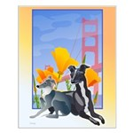 No. CA. Italian Greyhound Club Logo Small Poster