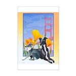 No. CA. Italian Greyhound Club Mini Poster Print