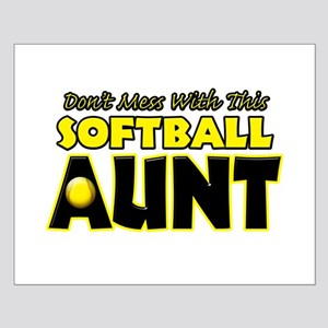 Dont Mess With This Softball Aunt Small Poster