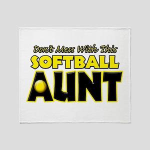 Dont Mess With This Softball Aunt Stadium Bla