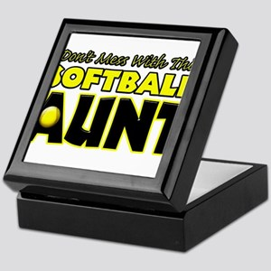 Dont Mess With This Softball Aunt Keepsake Box