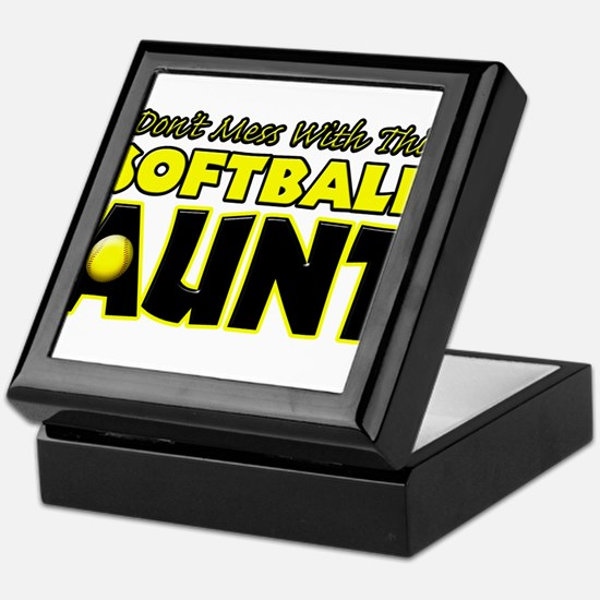 Dont Mess With This Softball Aunt.png Keepsake Box