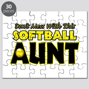 Dont Mess With This Softball Aunt Puzzle