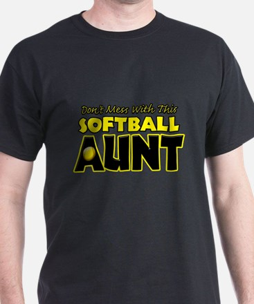 Dont Mess With This Softball Aunt.png T-Shirt