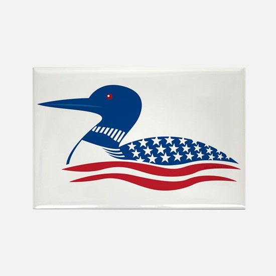 Proud Loon: Rectangle Magnet