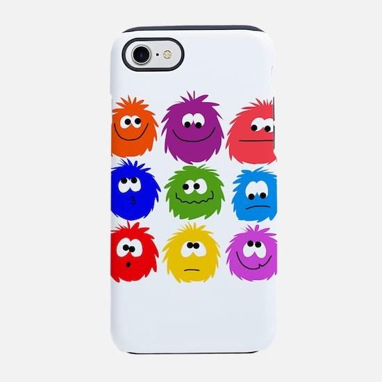 nine rainbow fuzzys iPhone 7 Tough Case