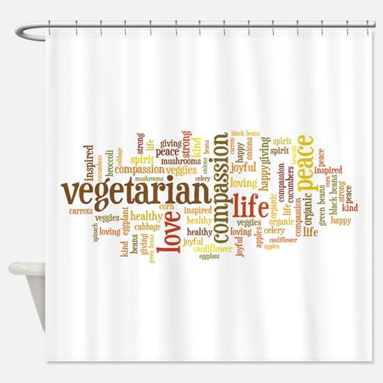 Vegetarian Shower Curtain