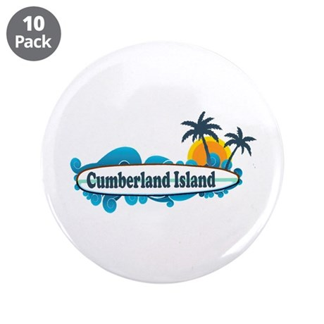 "Cumberland Island GA - Surf Design. 3.5"" Button (1"
