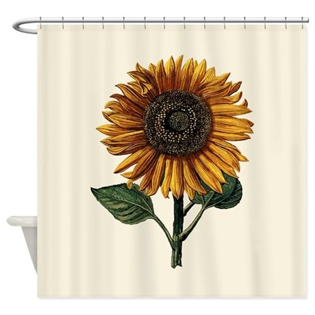 Daniel Froeschl Sunflower Shower Curtain