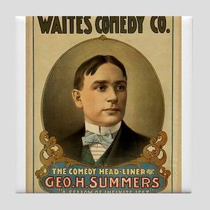 Waite's Comedy Co. Poster Tile Coaster