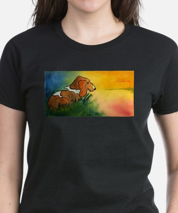 dog at sunrise - its a new day T-Shirt