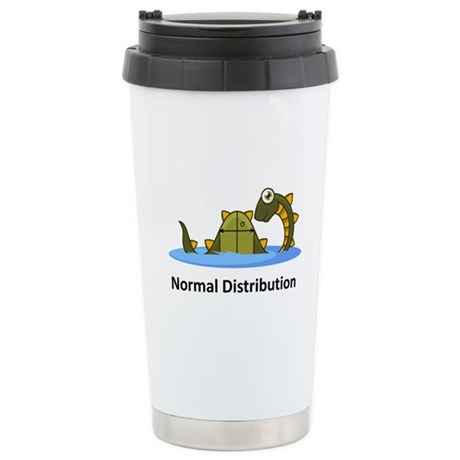 Normal Distribution Stainless Steel Travel Mug