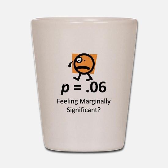 Feeling Marginally Significant? Shot Glass