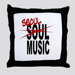 Seoul Music (K-pop) Throw Pillow