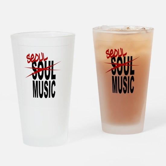 Seoul Music (K-pop) Drinking Glass