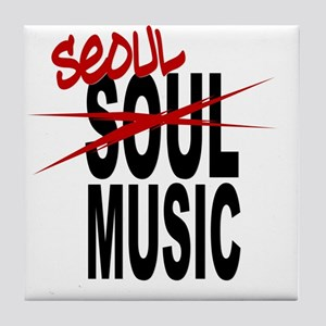 Seoul Music (K-pop) Tile Coaster