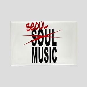 Seoul Music (K-pop) Rectangle Magnet