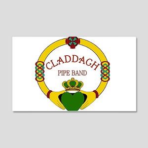 Claddagh Pipe Band Logo 20x12 Wall Decal