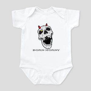Born Horny Skull Infant Creeper