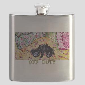 Off Duty Scottish Terrier Flask