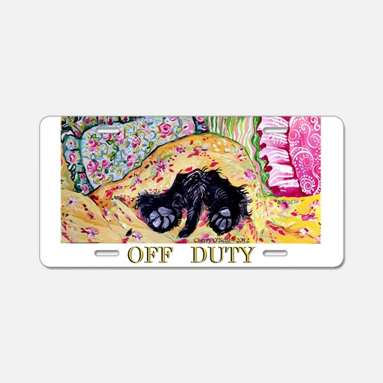 Off Duty Scottish Terrier Aluminum License Plate