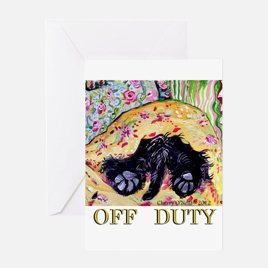 Scottish Terrier Off Duty Greeting Card