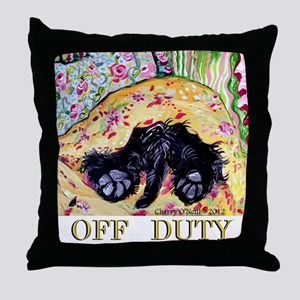 Scottish Terrier Off Duty Throw Pillow