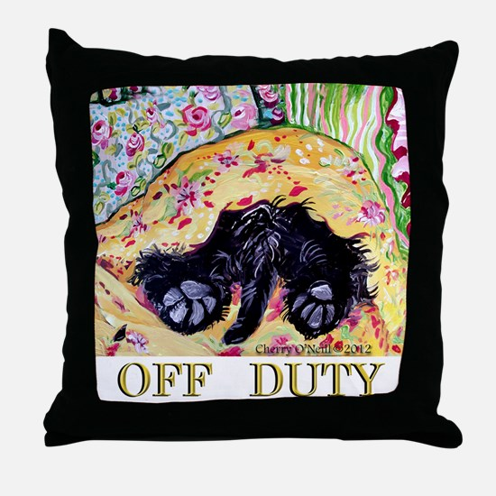 Scottish Terrier Off Duty Throw Pillow