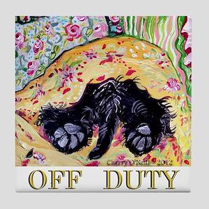 Scottish Terrier Off Duty Tile Coaster