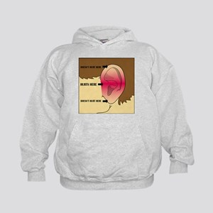 Does my head look funny to you? Kids Hoodie