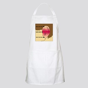 Does my head look funny to you? Apron