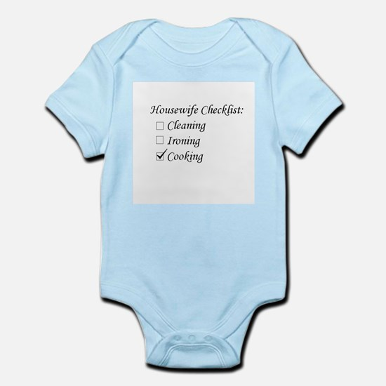 Housewife Checklist Infant Bodysuit