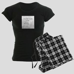 Housewife Checklist Women's Dark Pajamas