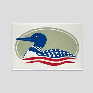 Proud Loon Oval: Rectangle Magnet