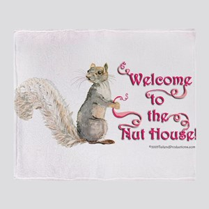 Squirrel Nut House Throw Blanket