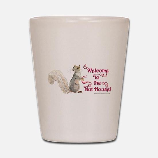 Squirrel Nut House Shot Glass