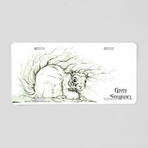 Gray Squirrel 13x6 Aluminum License Plate