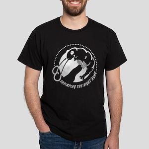 Shrimping the Night Away - White Dark T-Shirt
