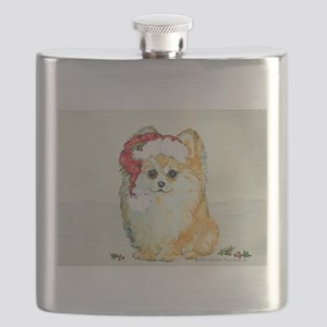 Pommy in the snow 2 Flask