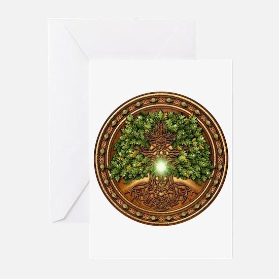 Sacred Celtic Trees - Oak Greeting Cards (Pk of 10