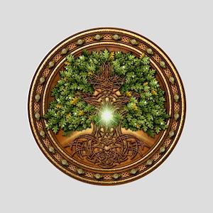 "Sacred Celtic Trees - Oak 3.5"" Button"